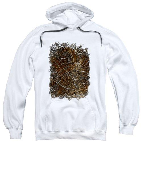 Swan Dance Earthy 3 Dimensional Sweatshirt by Di Designs