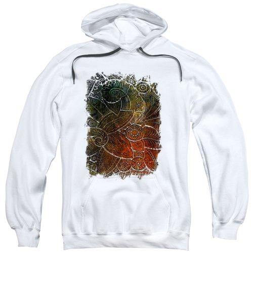 Swan Dance Earthy Rainbow 3 Dimensional Sweatshirt by Di Designs