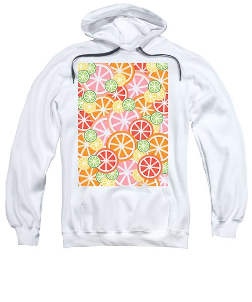 Sweet And Sour Citrus Print Sweatshirt by Lauren Amelia Hughes