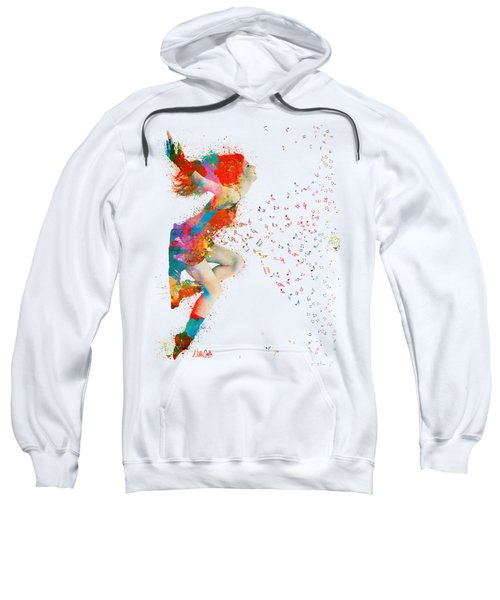 Sweet Jenny Bursting With Music Sweatshirt by Nikki Smith
