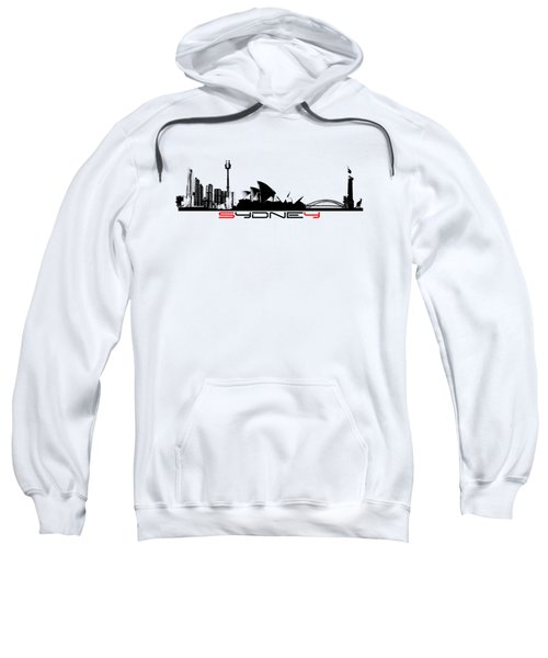 Sydney Skyline Black Sweatshirt by Justyna JBJart