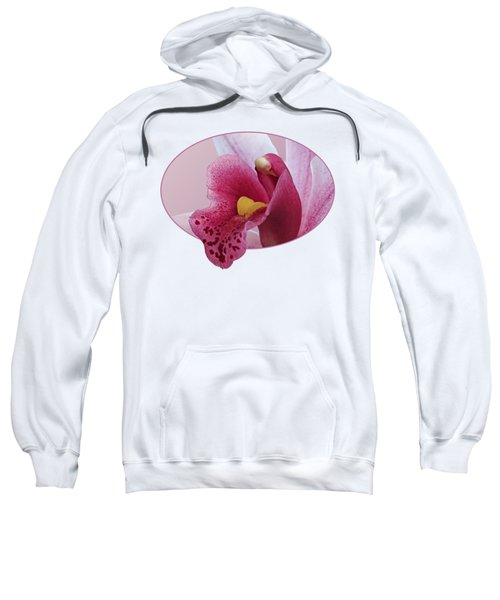 Temptation - Pink Cymbidium Orchid Sweatshirt by Gill Billington