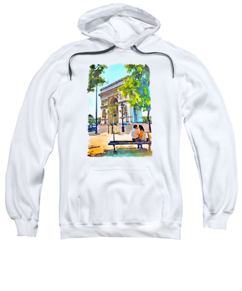 The Arc De Triomphe Paris Sweatshirt by Marian Voicu