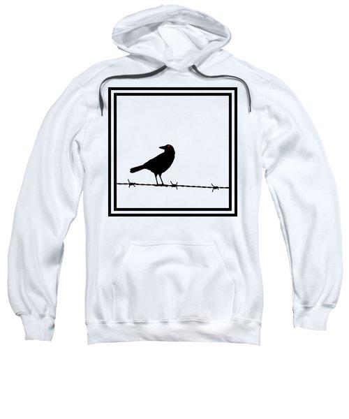 The Black Crow Knows T-shirt Sweatshirt by Edward Fielding
