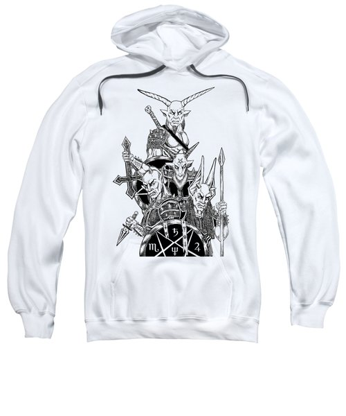 The Infernal Army White Version Sweatshirt by Alaric Barca