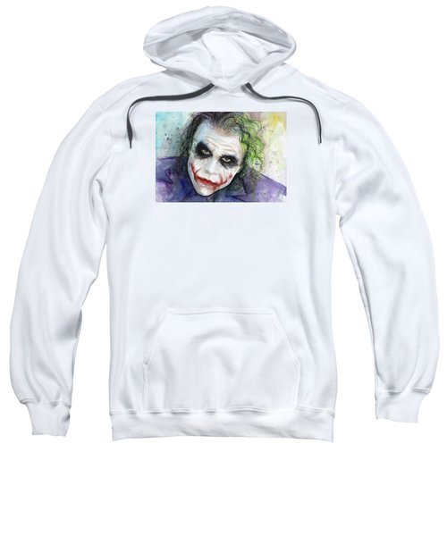The Joker Watercolor Sweatshirt by Olga Shvartsur
