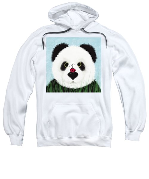 The Panda And His Visitor  Sweatshirt by Michelle Brenmark