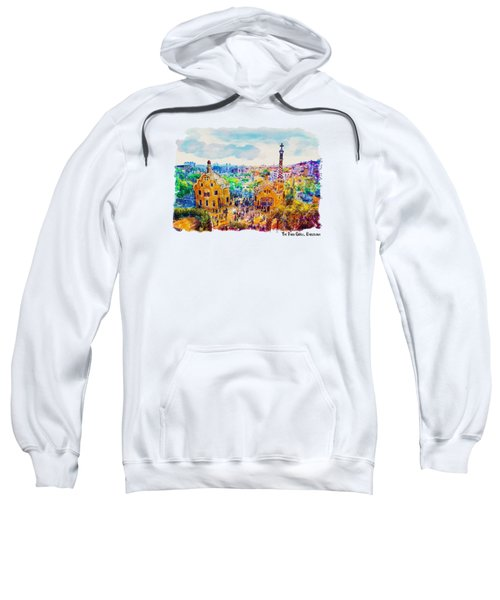 Park Guell Barcelona Sweatshirt by Marian Voicu