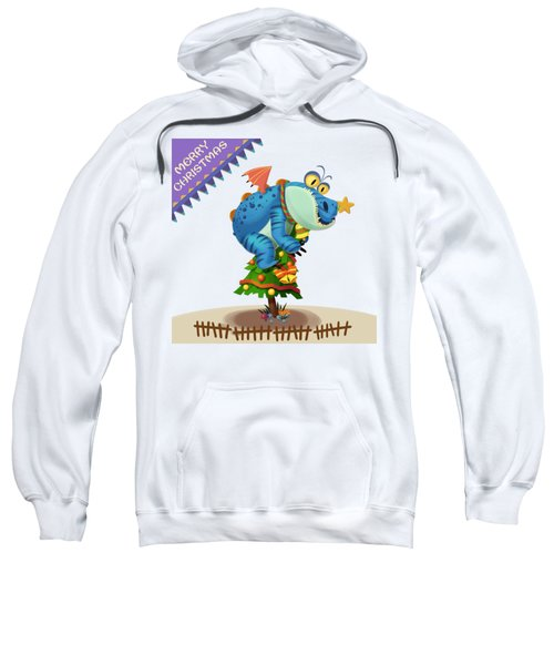The Sloth Dragon Monster Comes To Wish You Merry Christmas Sweatshirt by Next Mars