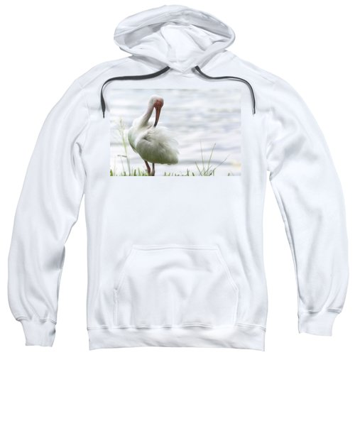 The White Ibis  Sweatshirt by Saija  Lehtonen