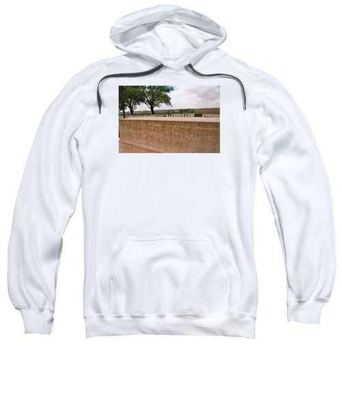 Sweatshirt featuring the photograph Their Name Liveth For Evermore by Travel Pics