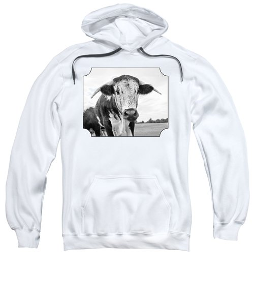 This Is My Field - Black And White Sweatshirt by Gill Billington