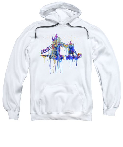 Tower Bridge Watercolor Sweatshirt by Marian Voicu