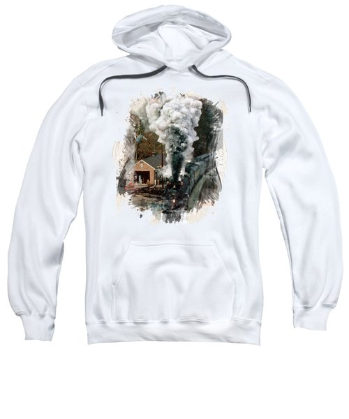 Train Days Sweatshirt by Florentina Maria Popescu