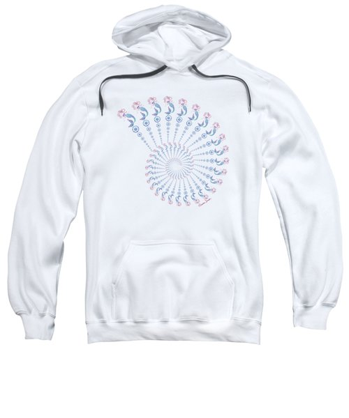 Tribal Mermaid Spiral Shell Sweatshirt by Heather Schaefer