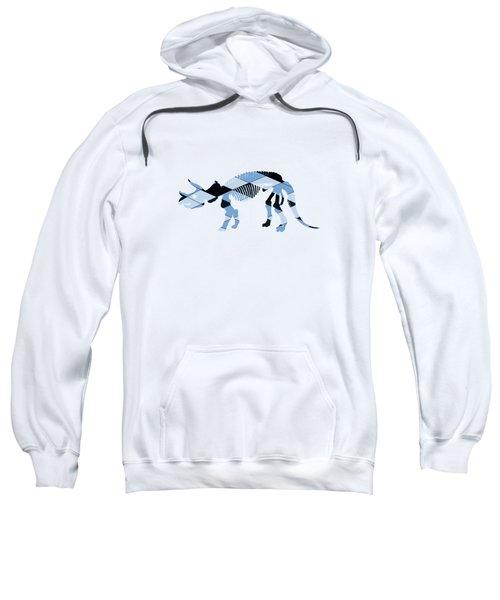 Triceratops Skeleton Sweatshirt by Mordax Furittus