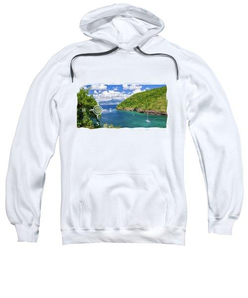 Tropical Lagoon Sweatshirt by Konstantin Sevostyanov