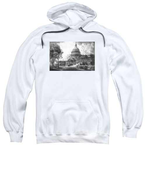 United States Capitol Building Sweatshirt by War Is Hell Store