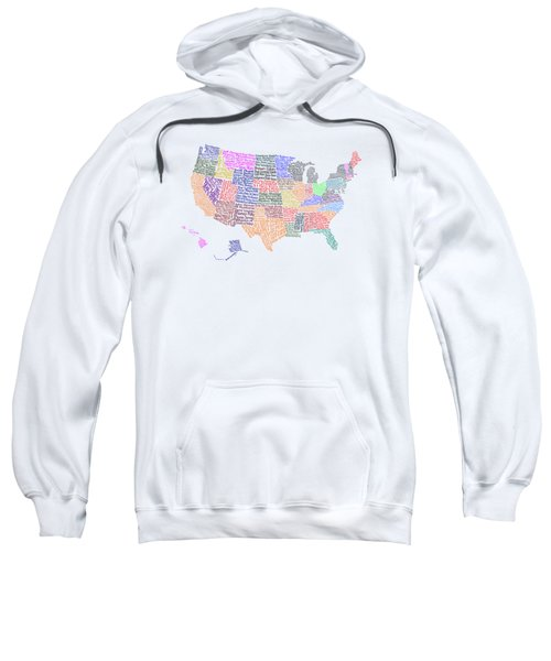 United States Musicians Map Sweatshirt by Trudy Clementine