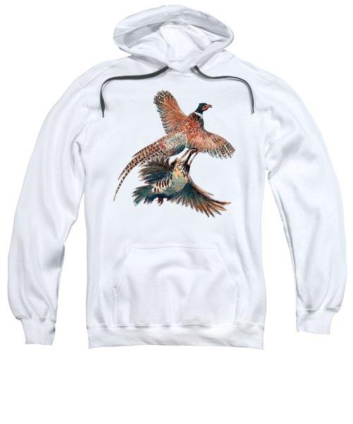 Up And Away Partridge And Pheasant Sweatshirt by Richard Skilton