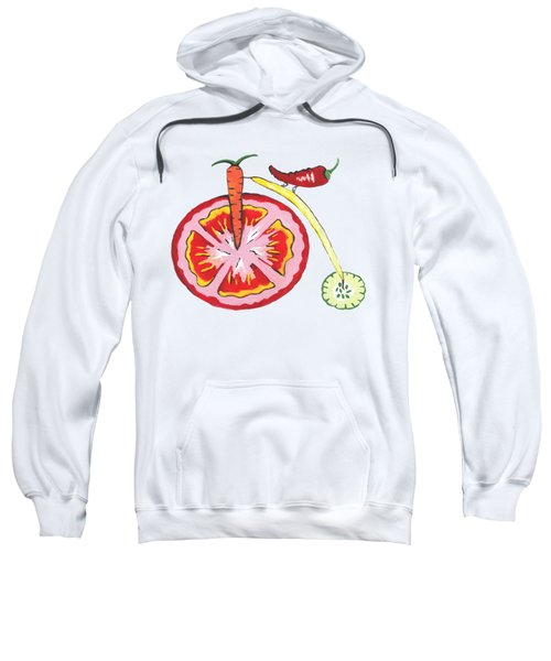 Veggie Bike Sweatshirt by Kathleen Sartoris