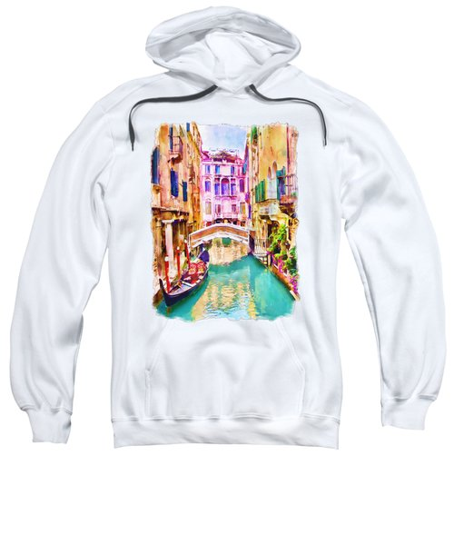 Venice Canal 2 Sweatshirt by Marian Voicu