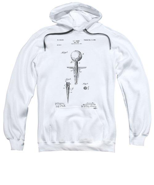 Vintage 1899 Golf Tee Patent Artwork Sweatshirt by Nikki Marie Smith