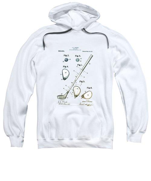 Vintage 1910 Golf Club Patent Sweatshirt by Digital Reproductions