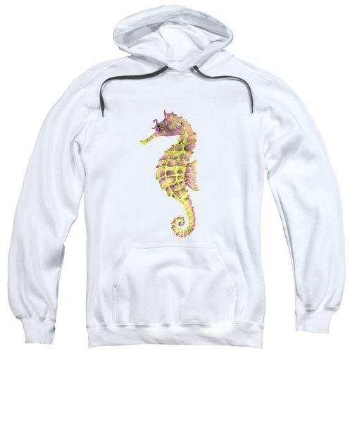 Violet Green Seahorse Sweatshirt by Amy Kirkpatrick