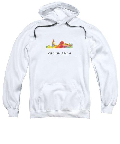 Virginia Beach  Virginia Skyline Sweatshirt by Marlene Watson