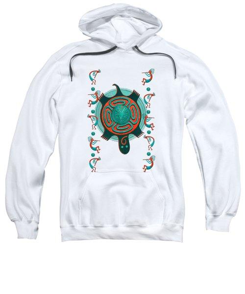 Visitors Anasazi 3d Folk Art Sweatshirt by Sharon and Renee Lozen