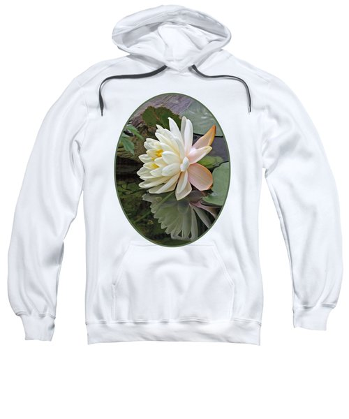 Water Lily Reflections Sweatshirt by Gill Billington