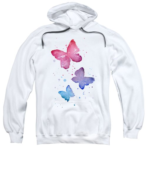 Watercolor Butterflies Sweatshirt by Olga Shvartsur