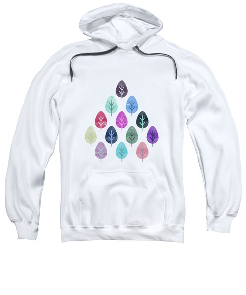 Watercolor Forest Pattern II Sweatshirt by Amir Faysal