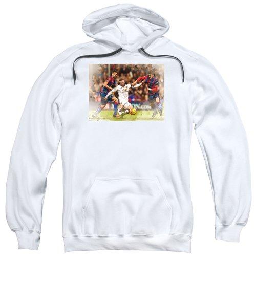 Wayne Rooney Shoots At Goal Sweatshirt by Don Kuing