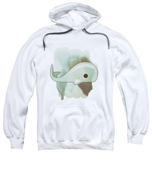 Whale Art - Bright Ocean Life Pastel Color Artwork Sweatshirt by Wall Art Prints
