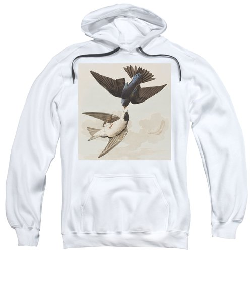White-bellied Swallow Sweatshirt by John James Audubon