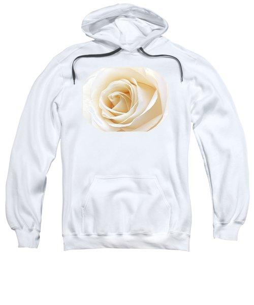 White Rose Heart Sweatshirt by Gill Billington