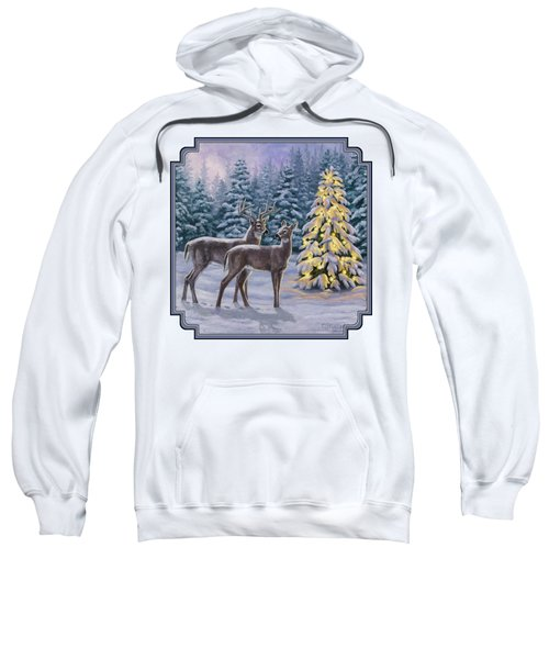 Whitetail Christmas Sweatshirt by Crista Forest