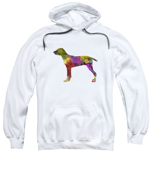 Wirehaired Slovakian Pointer In Watercolor Sweatshirt by Pablo Romero