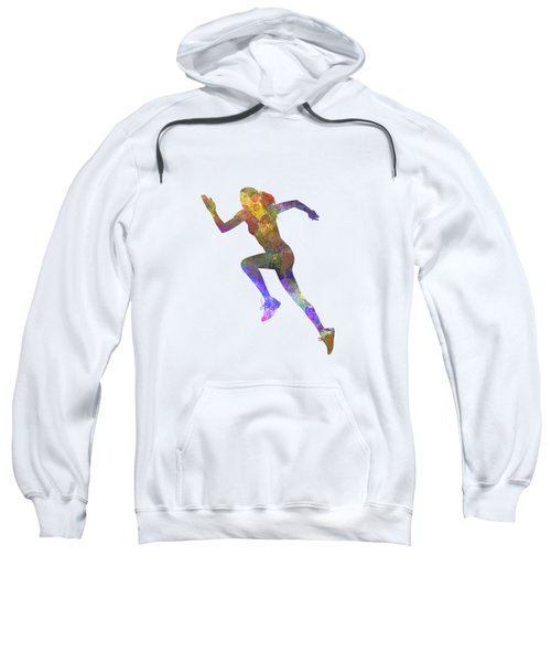 Woman Runner Running Jogger Jogging Silhouette 03 Sweatshirt by Pablo Romero
