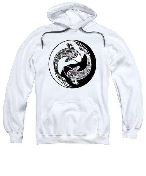 Yin Yang Fish Sweatshirt by Stephen Humphries