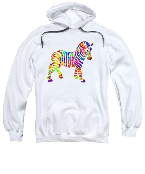 Zebra Sweatshirt by Christina Rollo