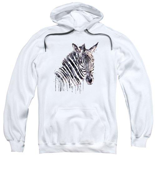 Zebra Head Sweatshirt by Marian Voicu