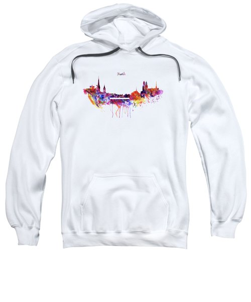 Zurich Skyline Sweatshirt by Marian Voicu