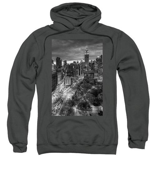 Flatiron District Birds Eye View Sweatshirt by Susan Candelario