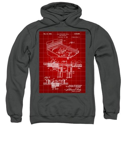 Pinball Machine Patent 1939 - Red Sweatshirt by Stephen Younts