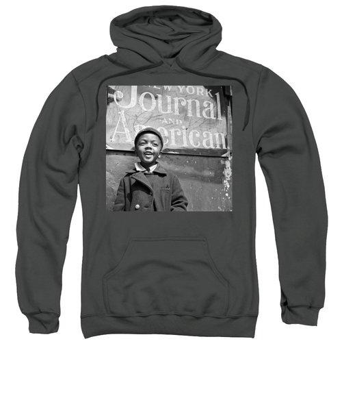 A Young Harlem Newsboy Sweatshirt by Underwood Archives