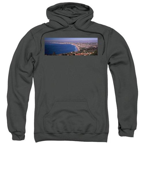 Aerial View Of A City At Coast, Santa Sweatshirt by Panoramic Images