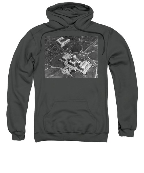 Aerial View Of U.s. Capitol Sweatshirt by Underwood Archives